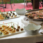 Buffet per un pranzo di nozze